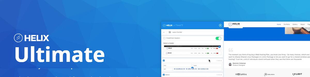 Helix Ultimate + SP Page Builder Pro 輕鬆快速架站,Joomla網站的好幫手