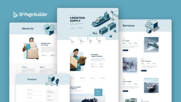SP Page Builder 最新版型 - Logistics 物流