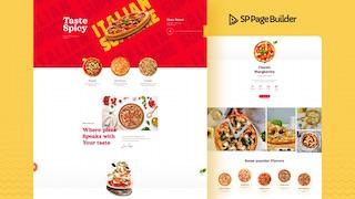 SP Page Builder 最新版型 - Pizza 披薩